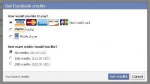 Facebook Gift Payment