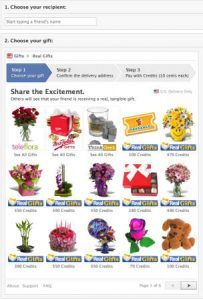 Facebook Gift Shares