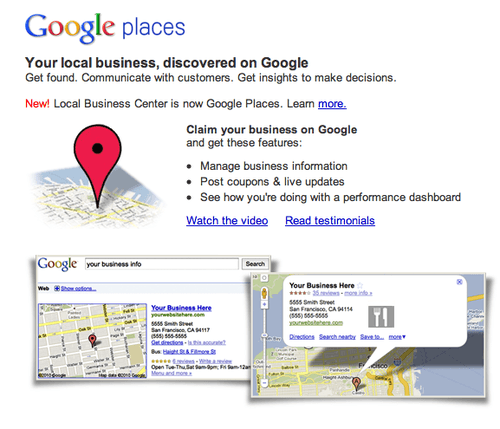 Google Places: Letting Others Discover You