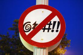 No Cussing Sign