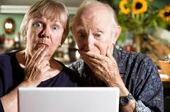 Old People Embarrassed by the Computer