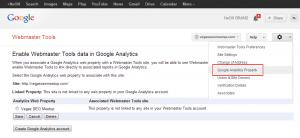 Webmaster Tools Google Analytics Property