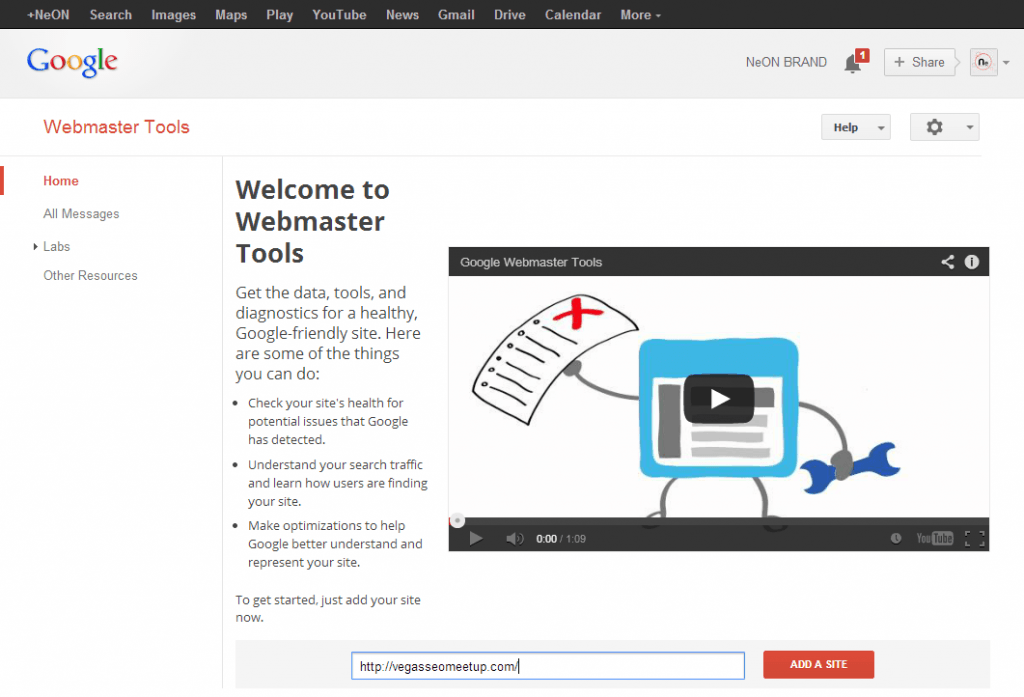 Webmaster Tools   Home