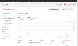 Webmaster Tools Structured Data