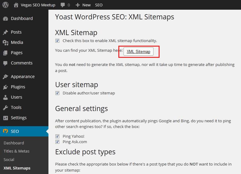 Yoast WordPress SEO XML Sitemap