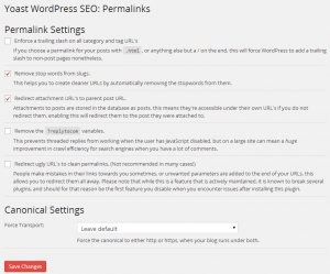 Yoast WordPress SEO Permalinks