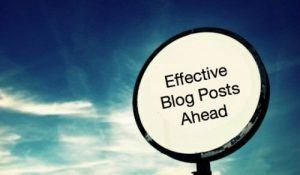 Effective blogging