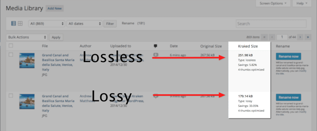 Lossless vs Lossy