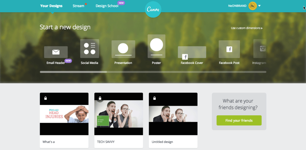 Understand the Canva Dashboard
