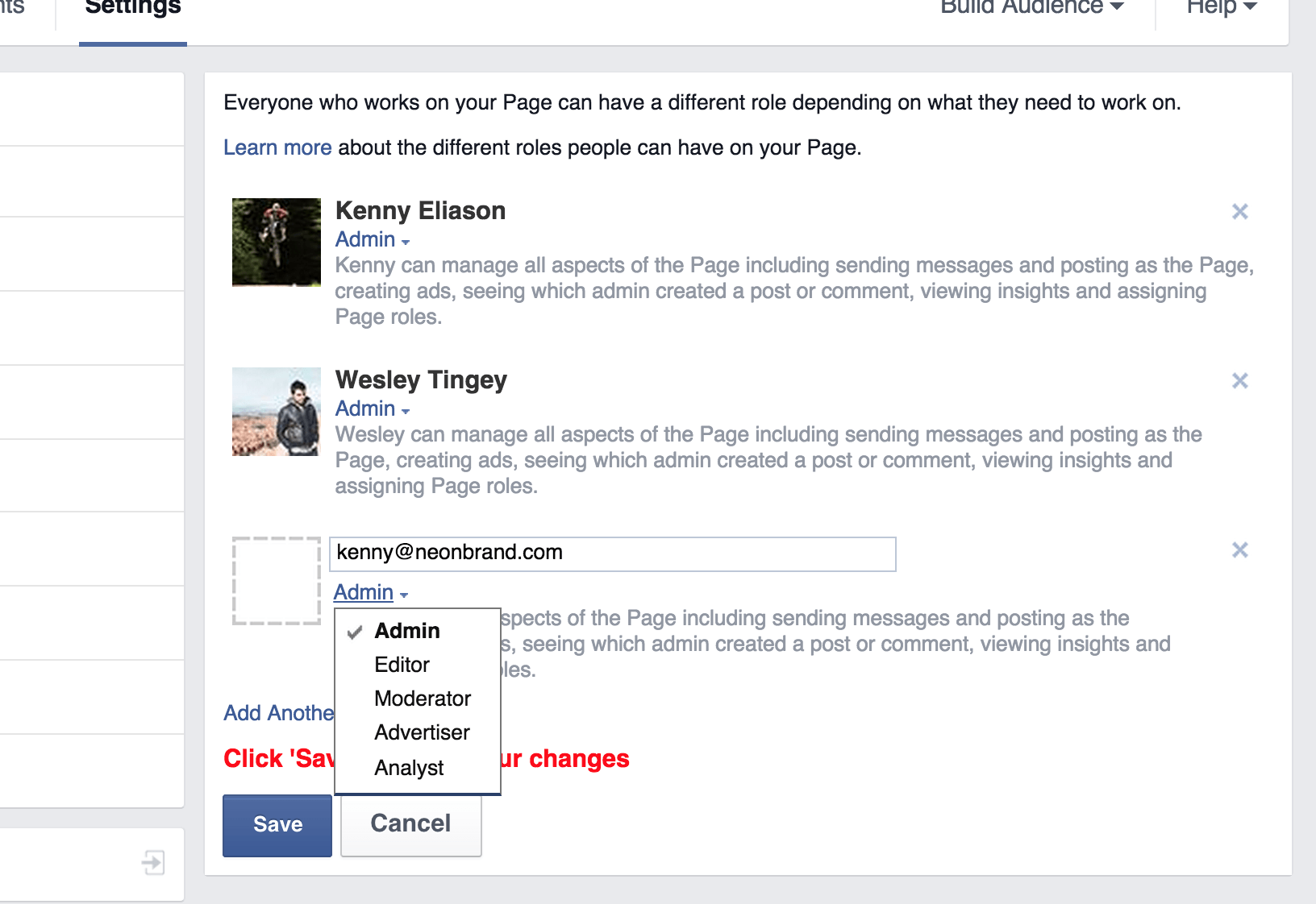 Adding an Admin to Facebook Business Page