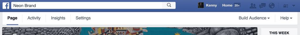 Facebook Admin Bar