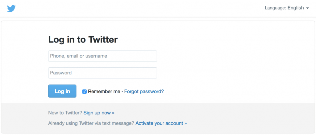 Give Access to Twitter Account