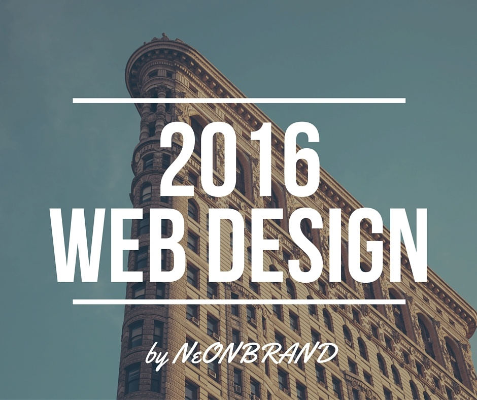 2016 Web design