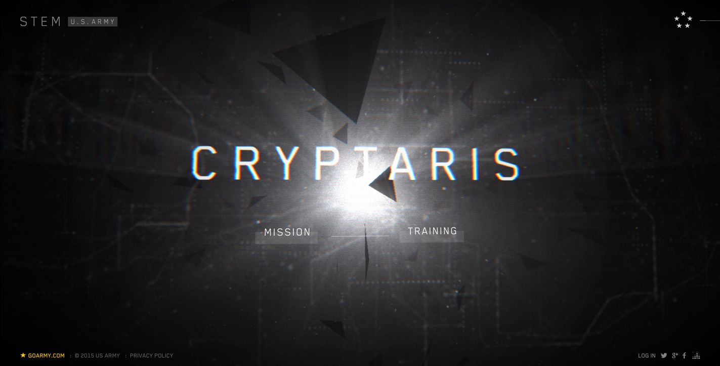 CRYPTARIS - US Army Web Design 2016