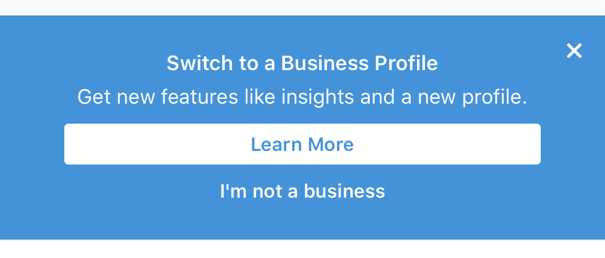 instagram for business notification