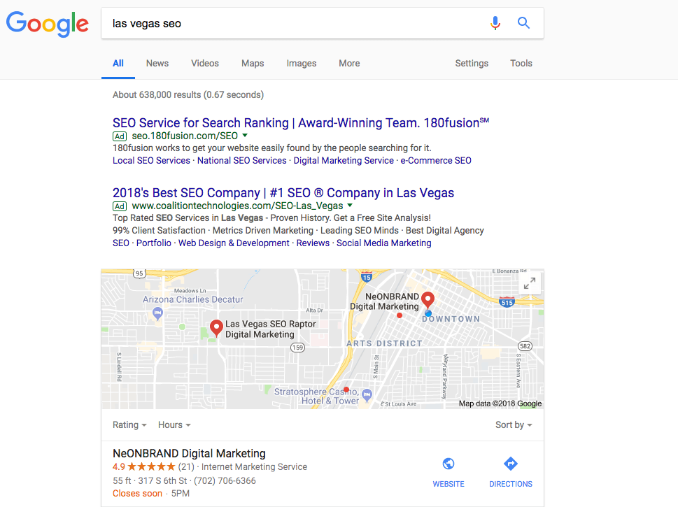 position 0 with local seo