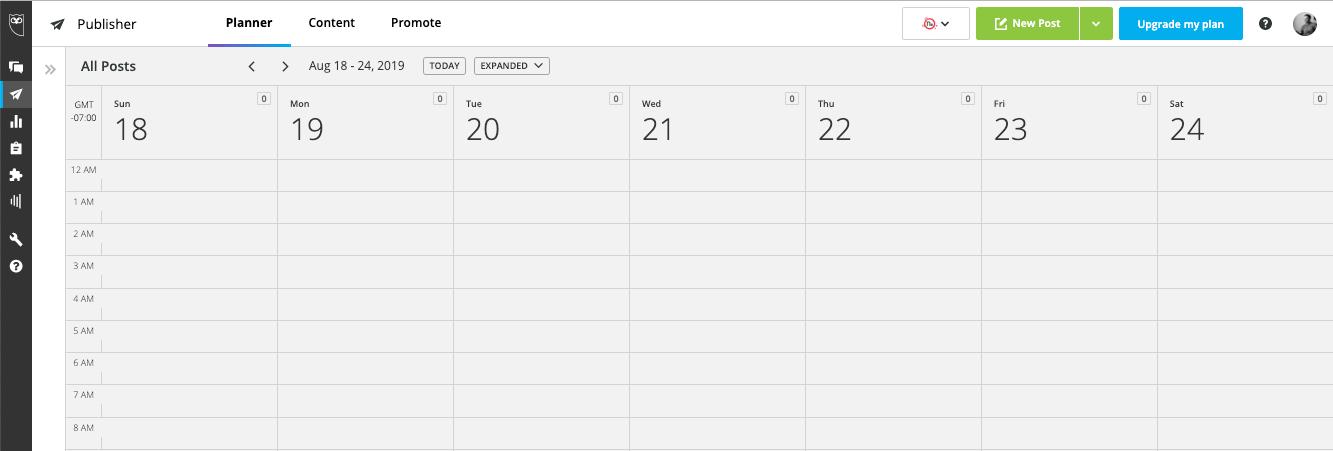 Hootsuite Calendar View