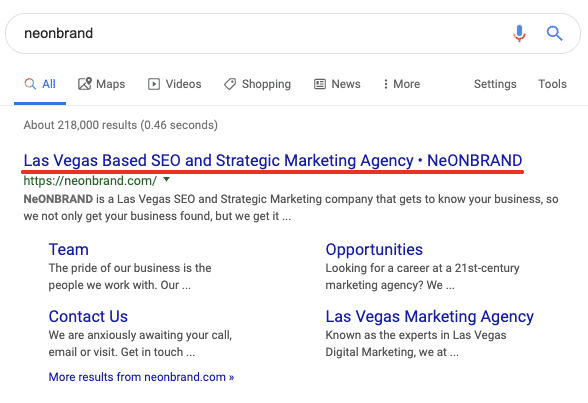 SEO Oversight: Title Tag showing in SERP